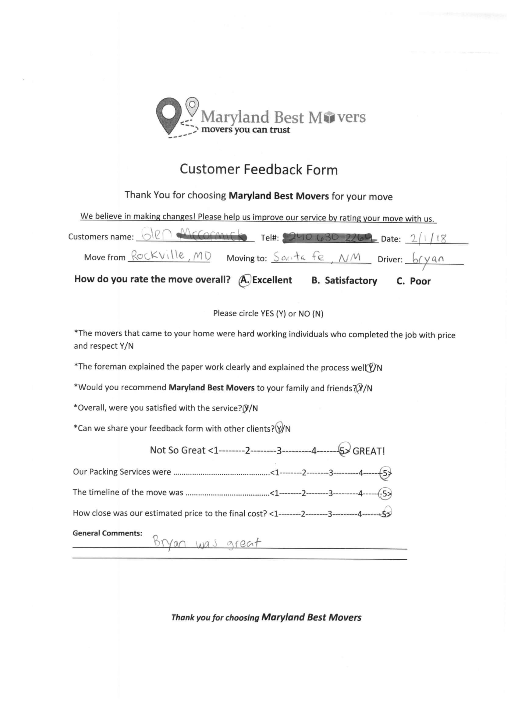 Maryland feedback forms-3